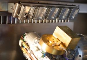 System zum automatischen Wechseln von Blenden im Vakuum